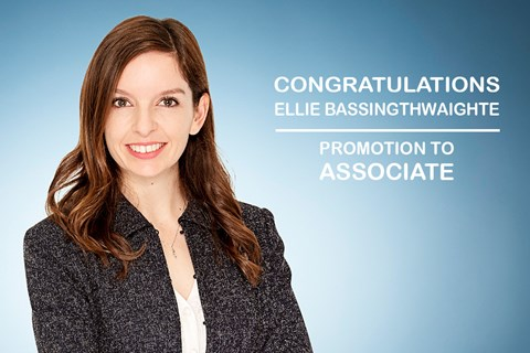 Congratulations on your promotion Ellie Bassingthwaighte