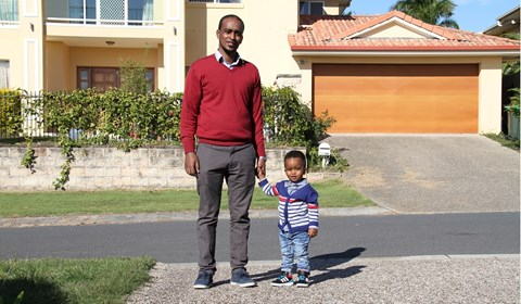 Success after a rejected tourist visa allows grandparents to meet their grandson.