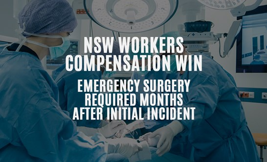 Workers compensation win when claim lodged months after initial injury